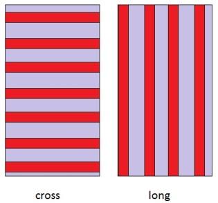stripes cross, long